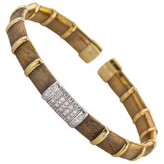 Henderson Collection Chocolate Gold Bracelet with Diamonds