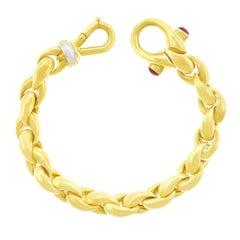 Italian Design 1970s Gold Bracelet