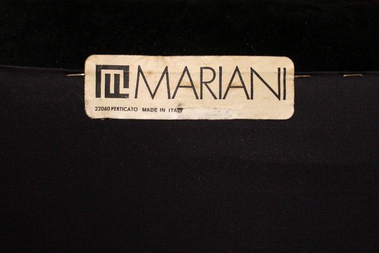 Italian Design Armchairs Faleschini Mariani Tubular Chrome and Black Upholster For Sale 10