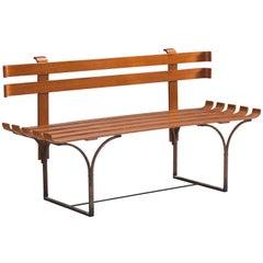 Italian Design Bent Plywood Bench, 1960s