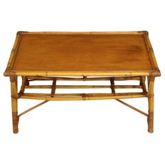 Italian Design Coffee Table in Bamboo, 20th Century