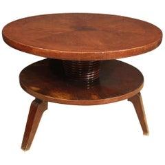 Italian Design Coffee Table in Beechwood, 20th Century
