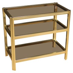 Italian Design Coffee Table in Golden Metal, 20th Century