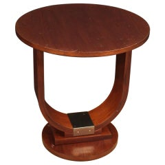 Italian Design Coffee Table in Mahogany and Fruit Woods, 20th Century