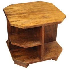 Italian Design Coffee Table in Walnut Wood, 20th Century