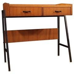 Italian Design Desk in Walnut Wood