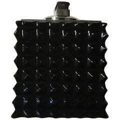 Italian Modern Design Black Faceted Crystal Table Lighter Contemporary Productio