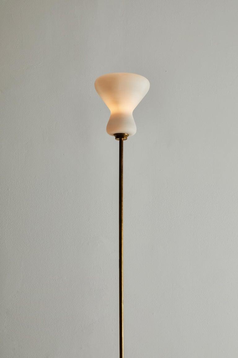 Brass Italian Design Floor Lamp For Sale
