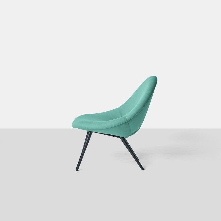 Blackened Italian Design Scoop Chair For Sale