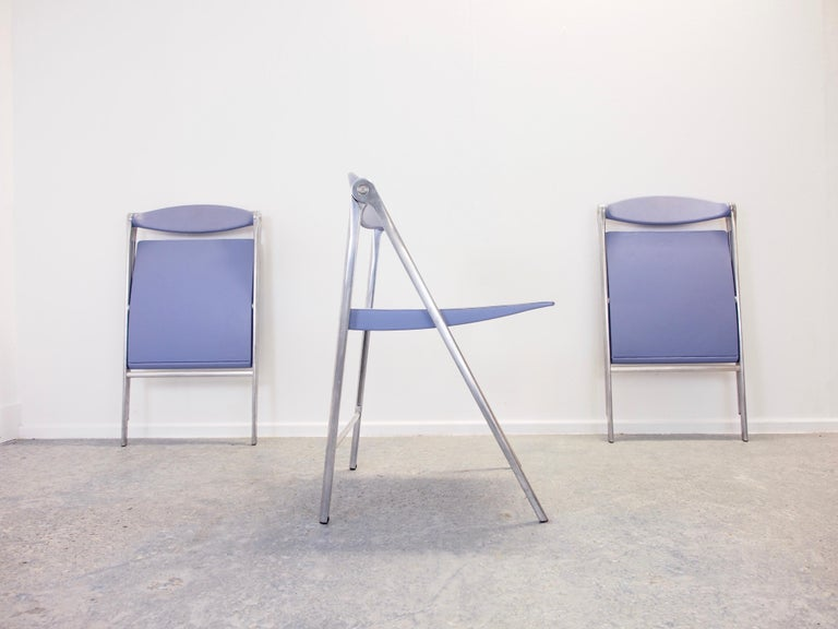 Modern Italian Design Set of 3 Folding Chairs
