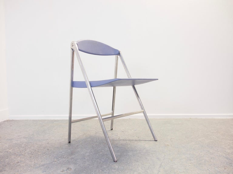 Aluminum Italian Design Set of 3 Folding Chairs