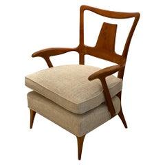 Italian Design Single Wood Armchair, 1940s
