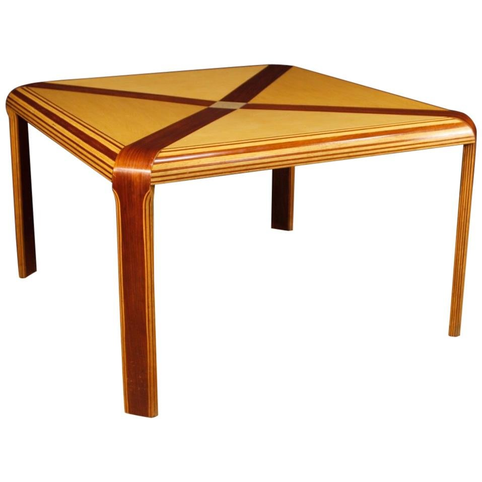 Italian Design Table in Maple, Mahogany and Painted Wood from 20th Century