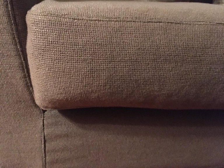 Italian Design Three Seats Upholstered Sofa Contemporary Production In Good Condition For Sale In Brescia, IT