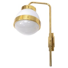 Italian Design Vintage Brass Wall Lamp by Sergio Mazza, 1960s