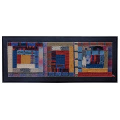 Italian Design Woolen Vintage Tapestry by Missoni, 1980s