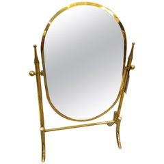 Italian Designed Vanity Tabletop Mirror, circa 1960