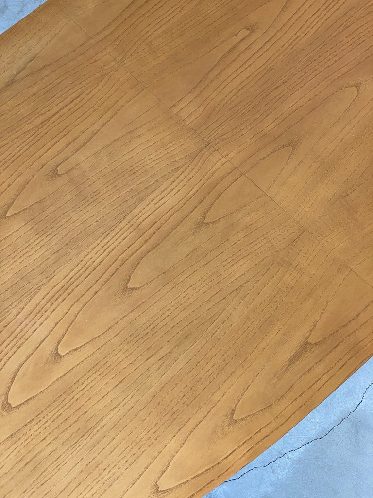 Italian Designer, Modernist Dinette Table, Light Beech, Brass, Italy, 1950s In Good Condition For Sale In West Palm Beach, FL