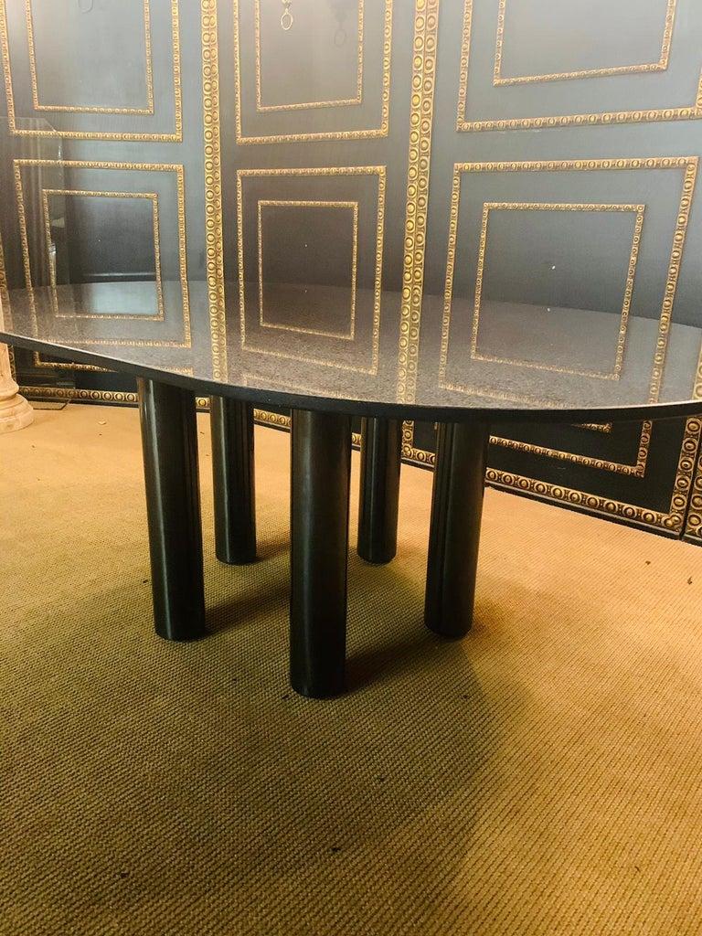 Italian Designer Table Star Galaxi Granite Dining Table Zanotta Italy  For Sale 5