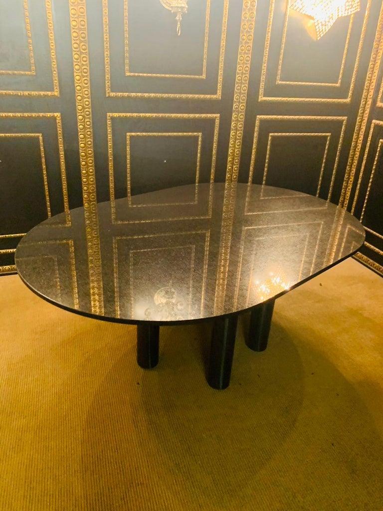 Italian Designer Table Star Galaxi Granite Dining Table Zanotta Italy  For Sale 6