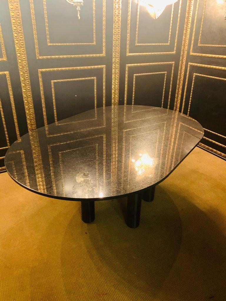 Italian Designer Table Star Galaxi Granite Dining Table Zanotta Italy  For Sale 7