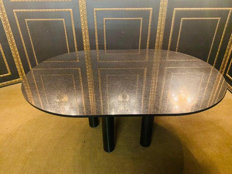 Italian Designer Table Star Galaxi Granite Dining Table Zanotta Italy  For Sale 8