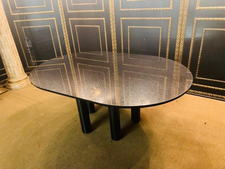 Italian Designer Table Star Galaxi Granite Dining Table Zanotta Italy  For Sale 9