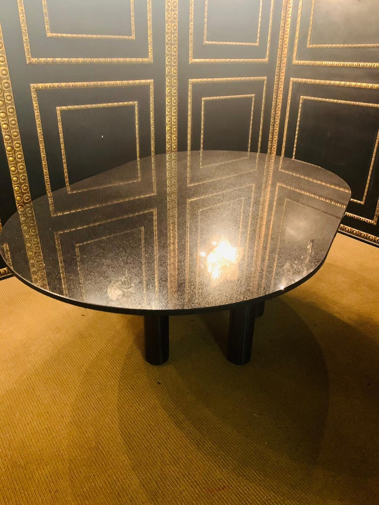 Italian Designer Table Star Galaxi Granite Dining Table Zanotta Italy  For Sale 10