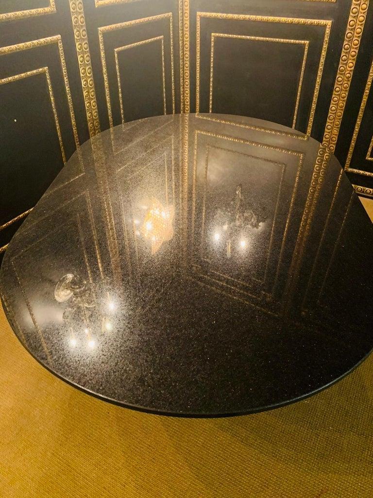 Italian Designer Table Star Galaxi Granite Dining Table Zanotta Italy  For Sale 11