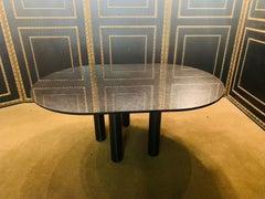 Italian Designer Table Star Galaxi Granite Dining Table Zanotta Italy