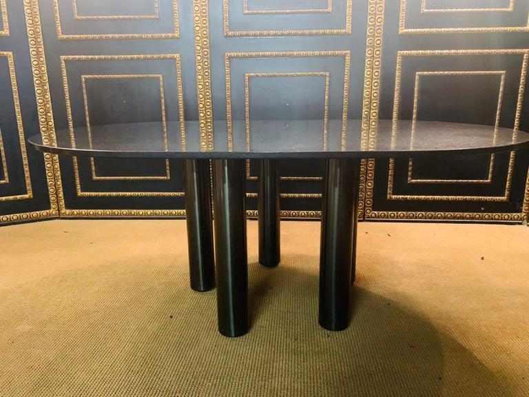Modern Italian Designer Table Star Galaxi Granite Dining Table Zanotta Italy  For Sale
