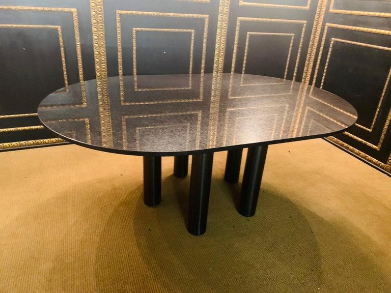 Italian Designer Table Star Galaxi Granite Dining Table Zanotta Italy  In Good Condition For Sale In Berlin, DE