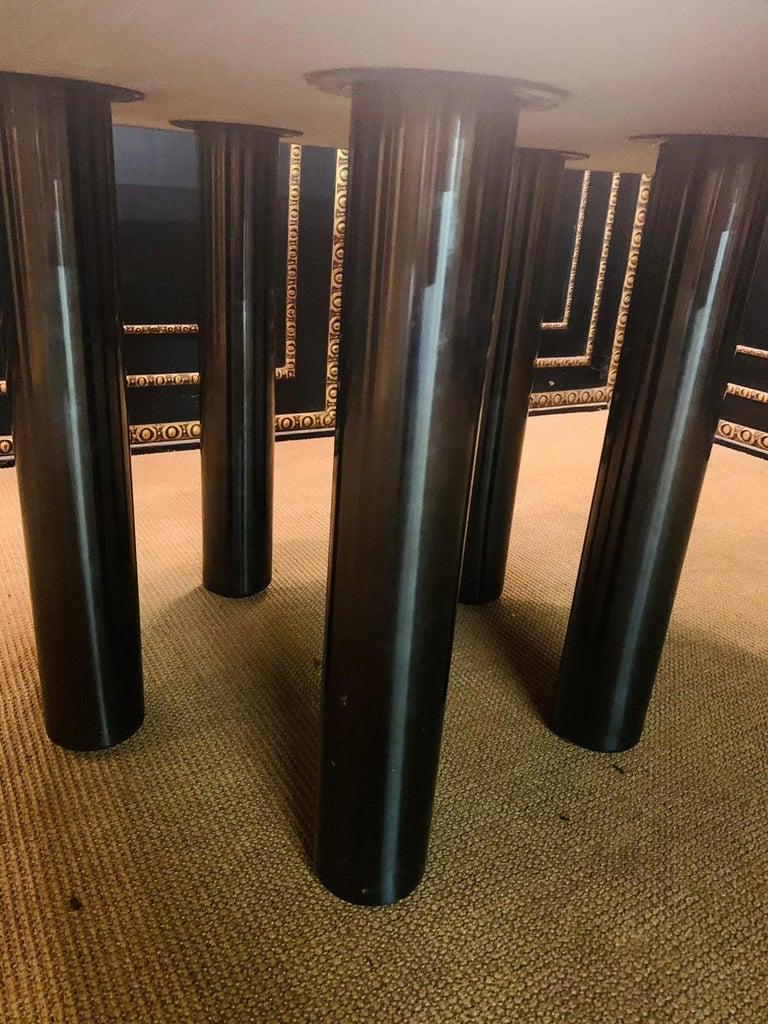 20th Century Italian Designer Table Star Galaxi Granite Dining Table Zanotta Italy  For Sale