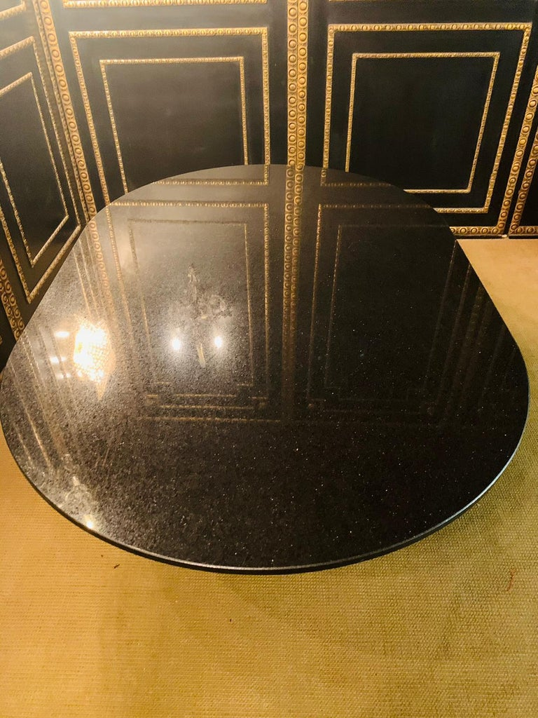 Italian Designer Table Star Galaxi Granite Dining Table Zanotta Italy  For Sale 4