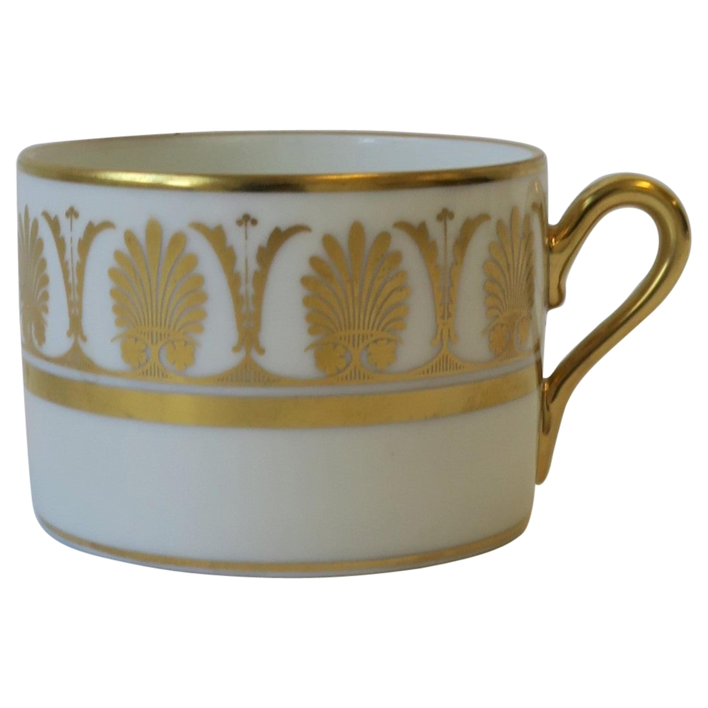 Richard Ginori Designer Italian White and Gold Coffee or Tea Cup, circa 1960s