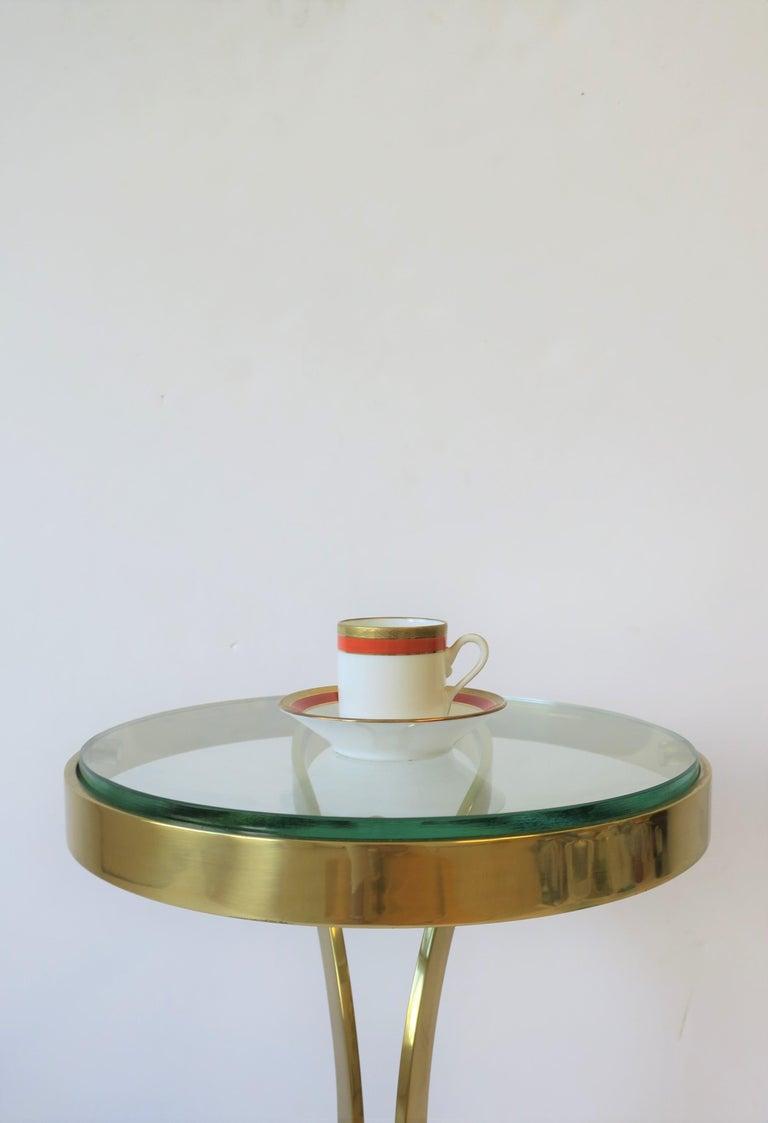 Italian Designer White Gold & Orange Espresso Coffee Cup by Richard Ginori For Sale 1