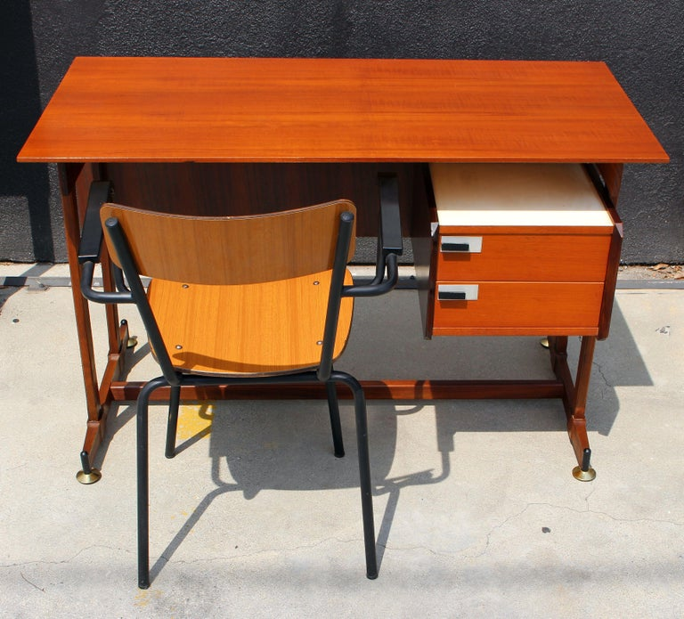 1960 s desk and chair attributed to Ico Parisi .Desk and the chair in very good original condition.