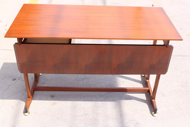 Italian Desk and the Chair Attributed to Ico Parisi In Good Condition For Sale In Los Angeles, CA