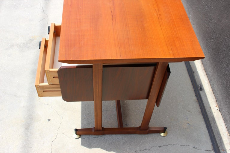 Mid-20th Century Italian Desk and the Chair Attributed to Ico Parisi For Sale