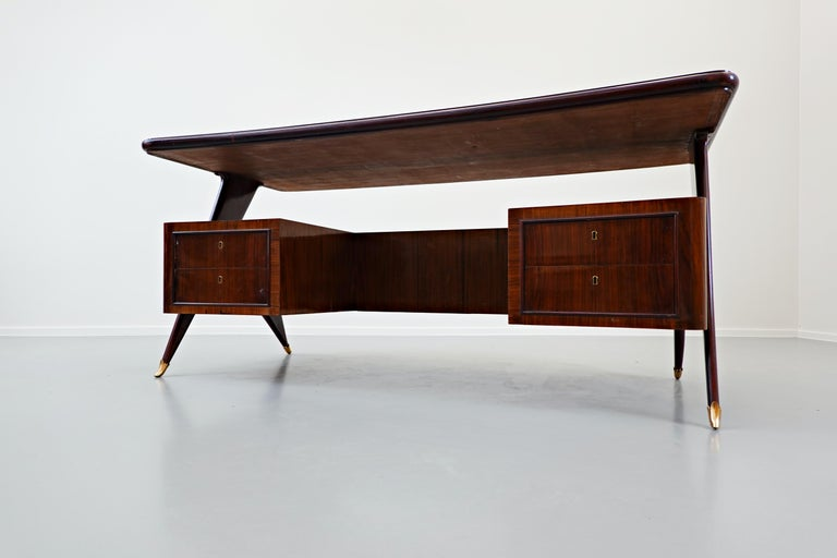 Italian Desk by Vittorio Dassi, 1950s In Good Condition For Sale In Brussels, BE