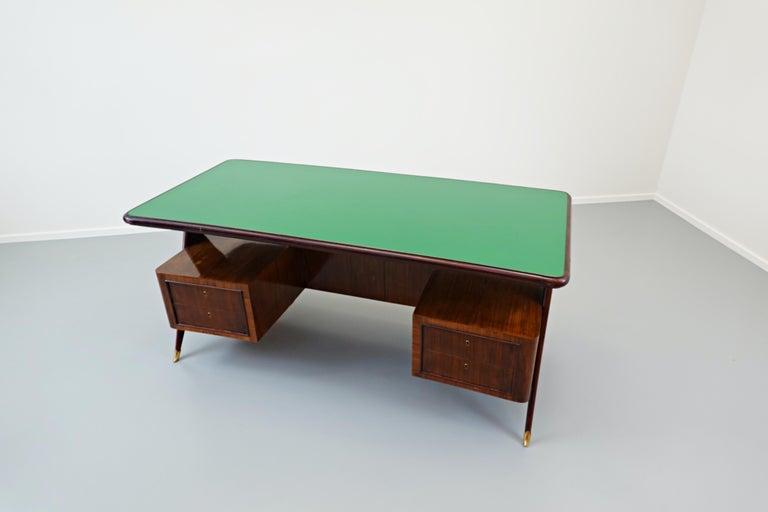 Glass Italian Desk by Vittorio Dassi, 1950s For Sale