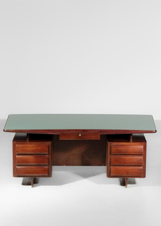 Italian Desk by Vittorio Dassi, 1950s Vintage In Good Condition For Sale In Lyon, FR