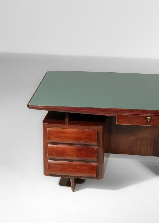 Glass Italian Desk by Vittorio Dassi, 1950s Vintage For Sale