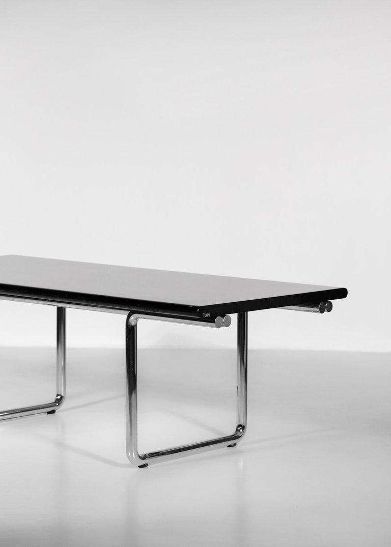 Italian Desk / Dining Table Castelli 1970s Chrome For Sale 2