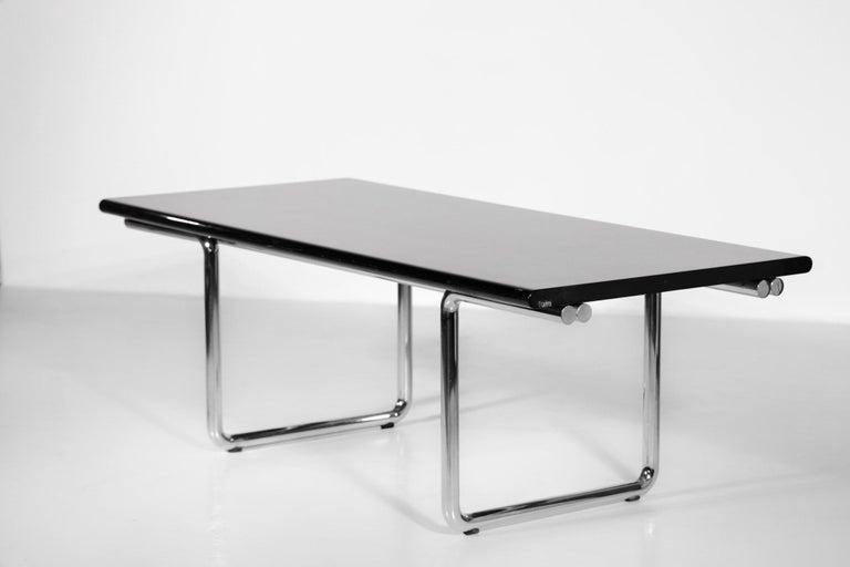 Italian Desk / Dining Table Castelli 1970s Chrome For Sale 3