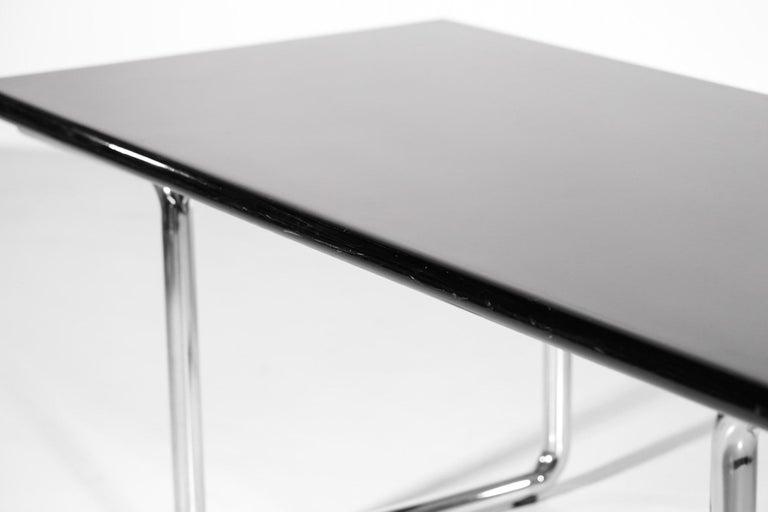 Italian Desk / Dining Table Castelli 1970s Chrome For Sale 4