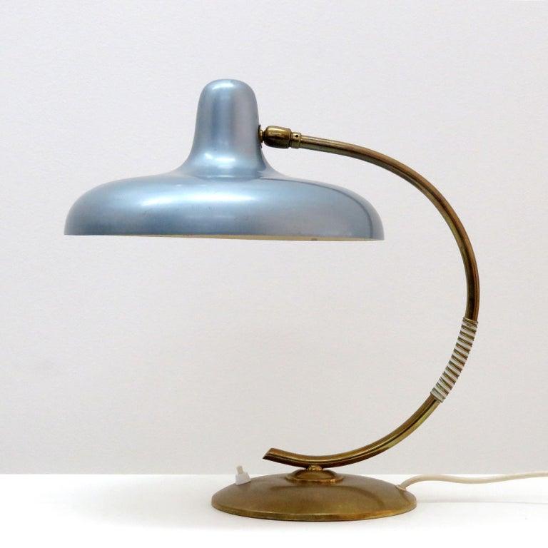 Enameled Italian Desk Lamp, 1950 For Sale