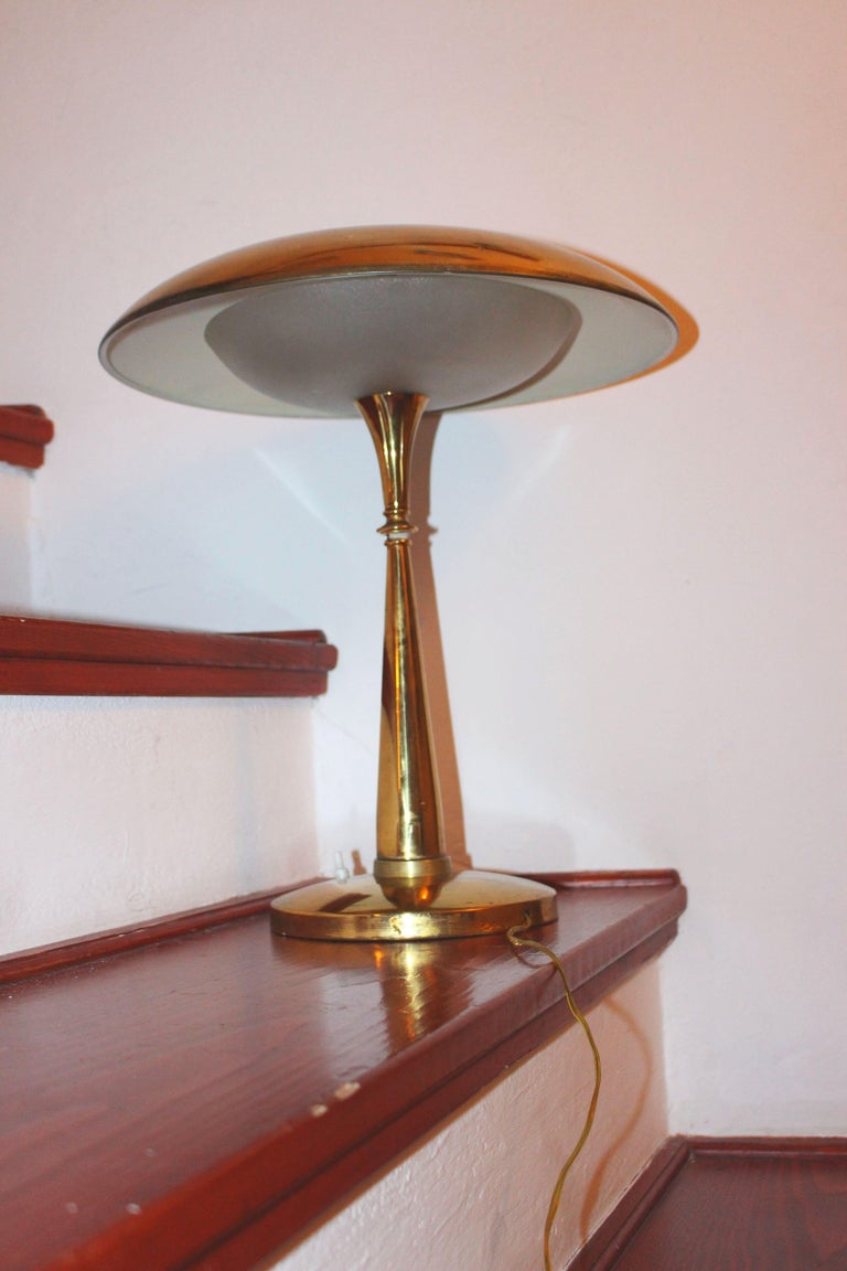 Mid-20th Century Italian Desk Lamp in Style of Stilux Milano For Sale
