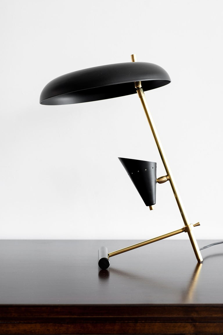 Newly produced in Italy - architectural desk lamp in the style of Gino Sarfatti. Newly rewired.