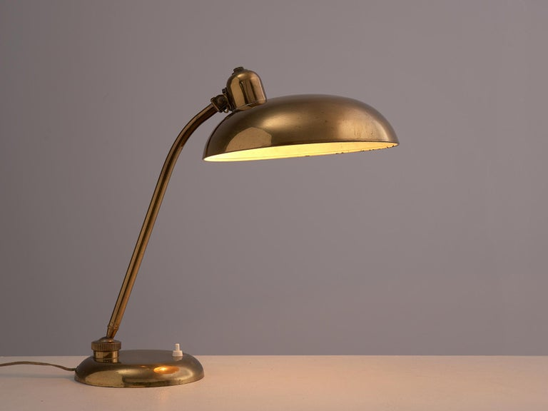Desk light, brass, Italy, 1960s